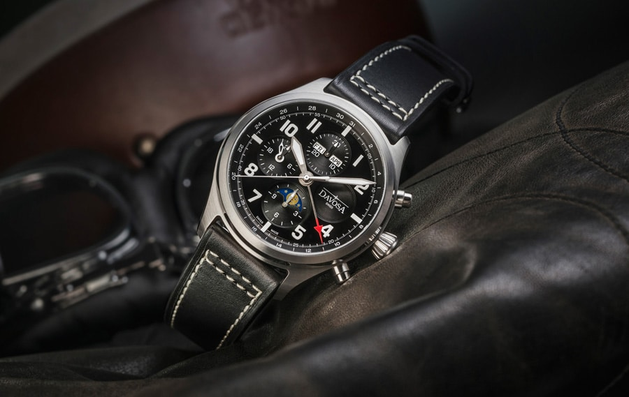 Davosa: Newton Pilot Moonphase Chronograph Limited Edition
