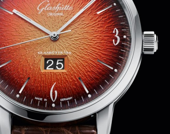 Glashütte Original: Sixties Panoramadatum Jahresedition 2019 orange