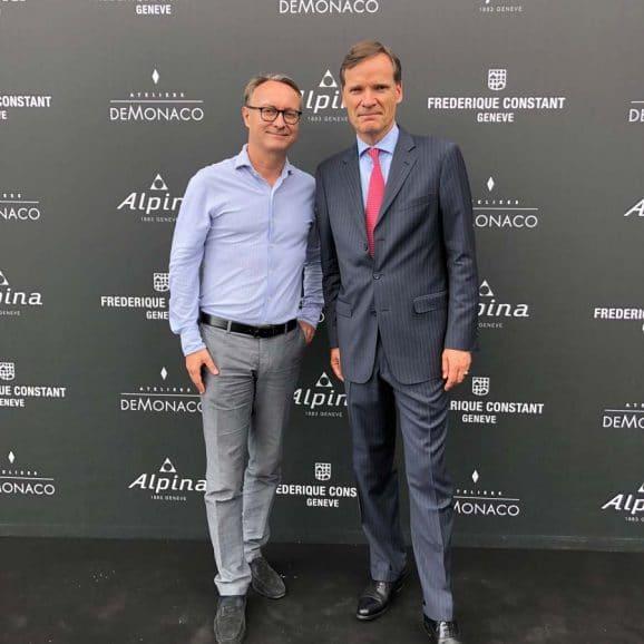 Holger Christmann, Chefredakteur des UHREN-MAGAZINS, mit dem Mitgründer und Präsidenten von Frederique Constant, Peter Stas. Foto: HC