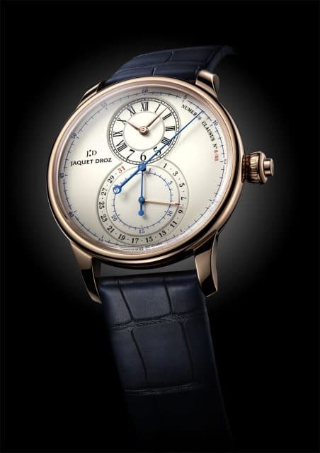 Jaquet Droz: Grande Seconde Chronograph in Rotgold mit Email-Zifferblatt
