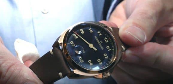 Meistersinger Metris Bronze bei der Hamburger Uhrennacht