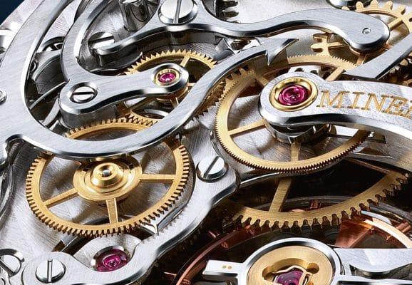 Werktechnik: die horizontale Chronographenkupplung in einem Minerva-Handaufzugskaliber