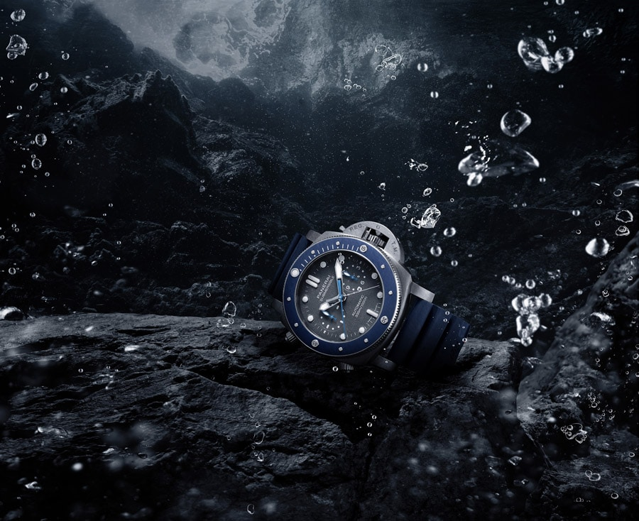 Panerai: Submersible Chrono Guillaume Nery Edition Taucheruhren Special 2019