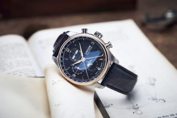 Union Glashütte: Belisar Chronograph Mondphase mit schwarzem Zifferblatt