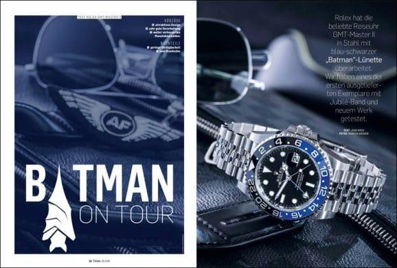 """Chronos hat die neue Rolex GMT-Master II """"Batman"""" getestet. Ist der Hype berechtigt?"""