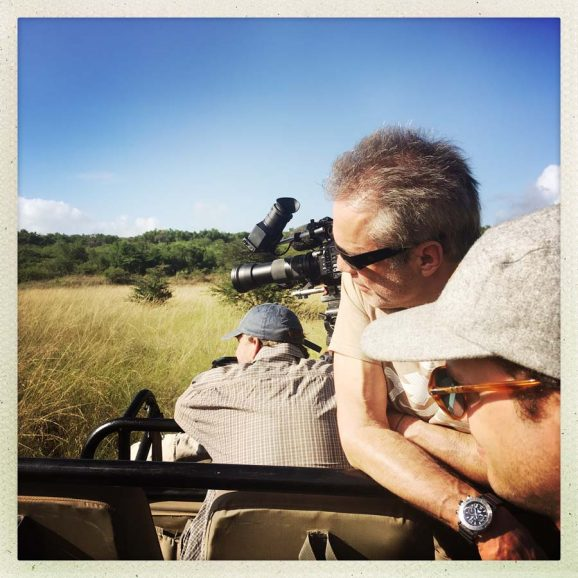 Seinen Tauchkompressor-Chronographen möchte der Schauspieler auch in der afrikanischen Savanne nicht missen.
