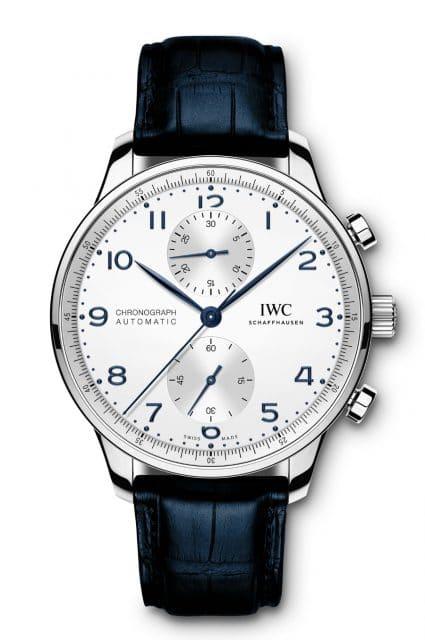 IWC: Portugieser Chronograph Referenz IW371605 in Edelstahl mit argentéfarbenem Zifferblatt