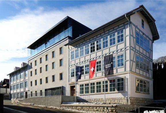 Montblanc: Das Manufakturgebäude in der ehemaligen Minerva-Fabrik in Villeret