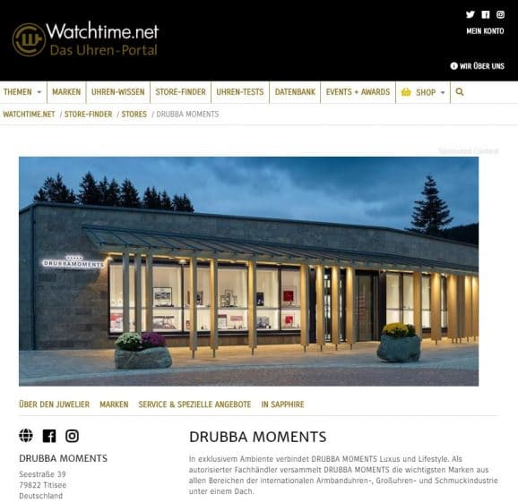 Store-Finder: Drubba Moments