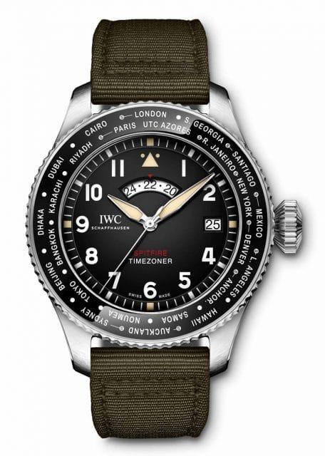 """Der Weltumrundung gewidmet: IWC Pilot's Watch Timezoner Spitfire Edition """"The Longest Flight"""". Das Modell wird 250 mal gebaut und kostet 13 800 Euro."""