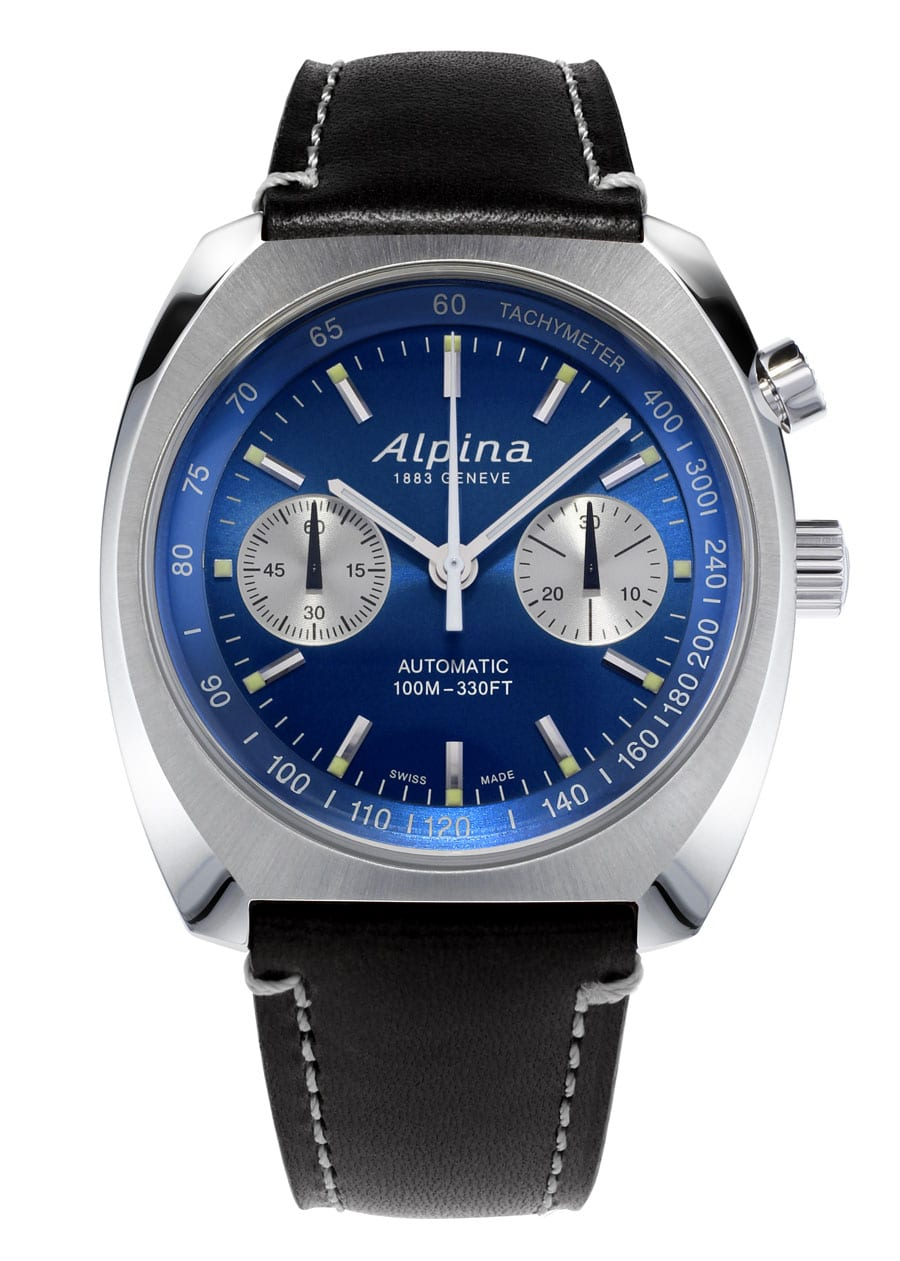 Alpina: Startimer Pilot Heritage Chronograph mit blauem Zifferblatt