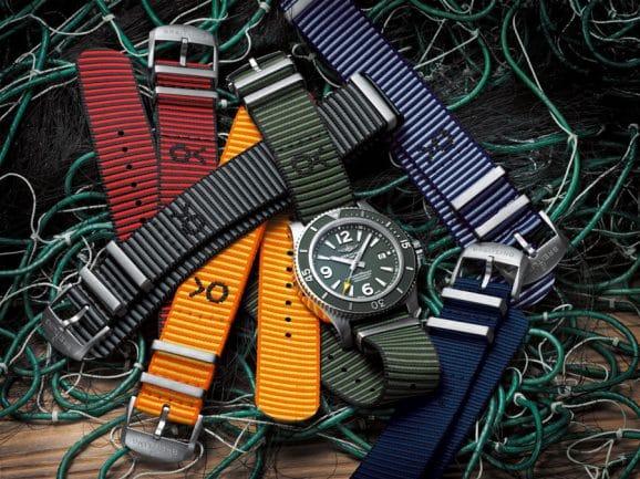 Breitling: die Superocean Automatic 44 Outerknown inmitten der neuen Econyl-Armbänder