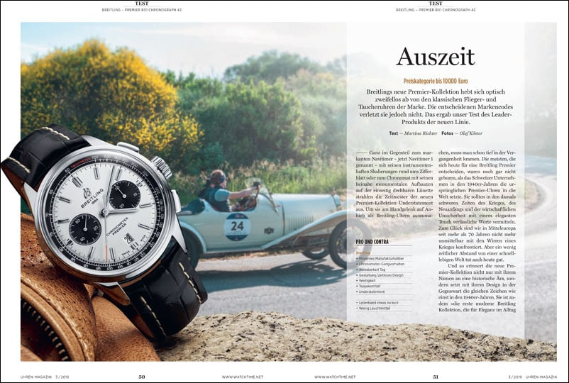 Produkt: Download: Breitling Premier B01 Chronograph 42 im Test