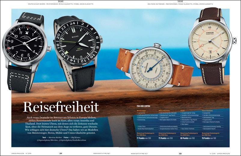 Produkt: Download: 4 deutsche GMT-Uhren im Vergleich