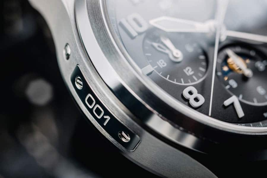 Davosa: Newton Pilot Moonphase Chronograph Limited Edition in Schwarz