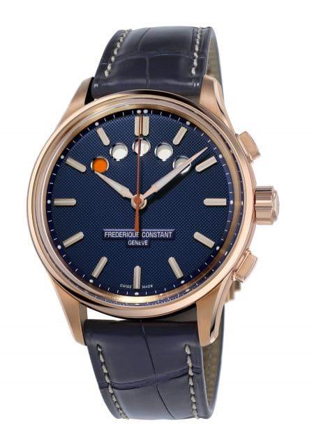 Frederique Constant: Yacht Timer Regatta Countdown mit Roségoldplattierung und blauem Zifferblatt