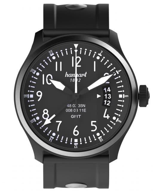 Mit zweiter Zeitzone: Hanhart S 105 OE GMT