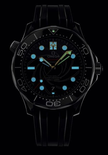 Omega: Seamaster Diver 300M James Bond Limited Edition bei Nacht