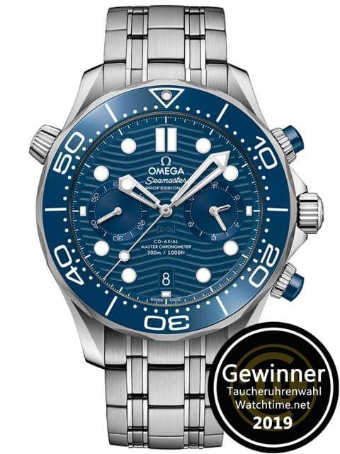 Gewinner Taucheruhrenwahl 2019: Omega Seamaster Diver 300M Chronograph