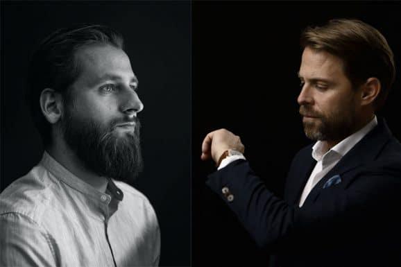 Oris: Designer Lukas Bühlmann und Co-CEO Rolf Studer