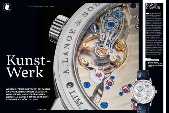 Chronos 05.2019 zeigt die Schönheit der Werkverzierungen bei A. Lange & Söhne