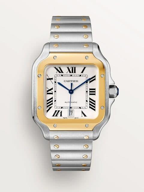 Cartier: Santos de Cartier, großes Modell, Bicolor, Referenz W2SA0009