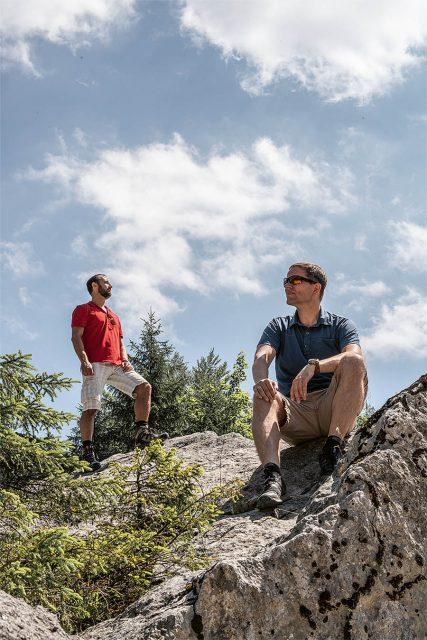 Chronos unterwegs: Alexander Krupp (links) und Jens Koch im Ammergebirge bei Füssen