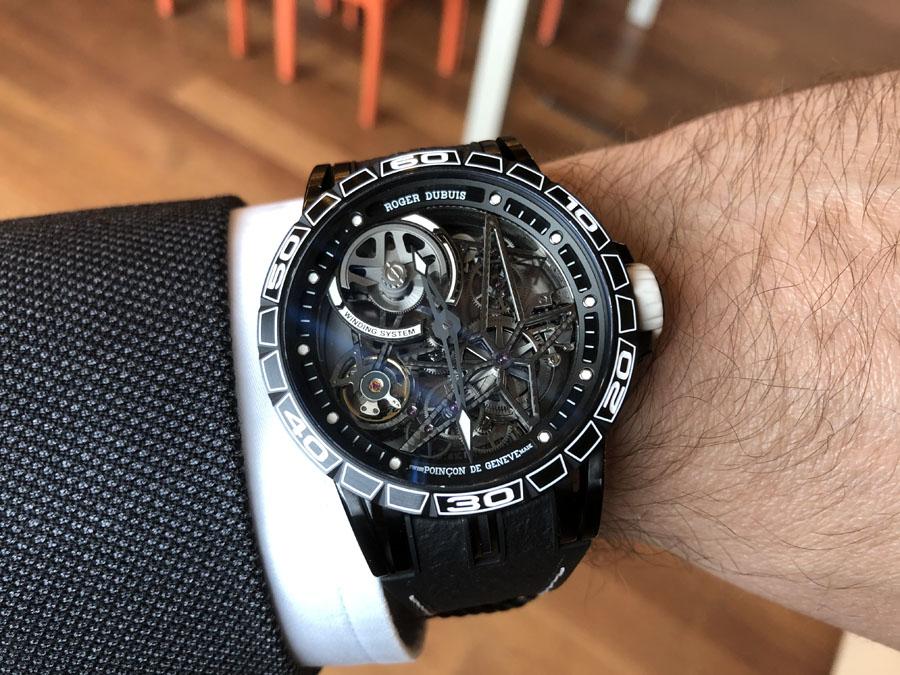 Chronos-Leserreise Genf 2019: Roger Dubuis Excalibur Spider Pirelli Automatic Skeleton