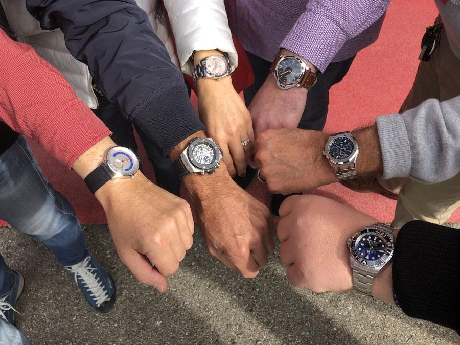 Chronos-Leserreise Genf 2019: So sahen die Handgelenke am ersten Tag aus