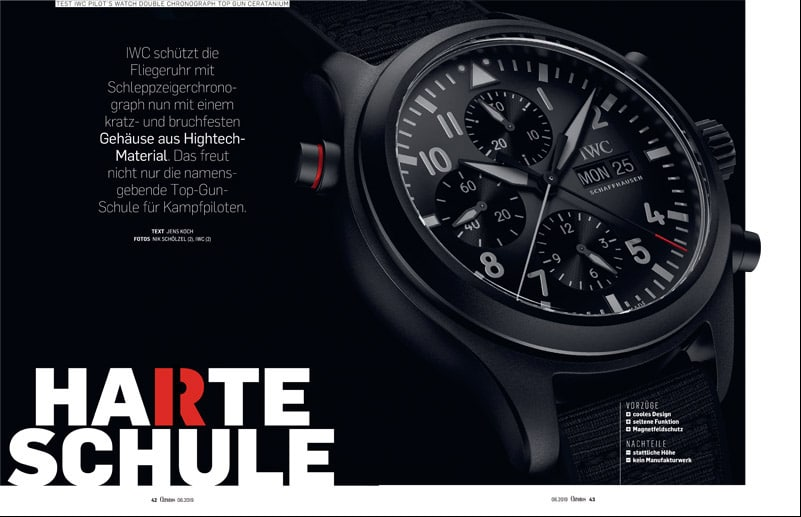 Produkt: Download: IWC Pilot's Watch Double Chronograph Top Gun Ceratanium im Test