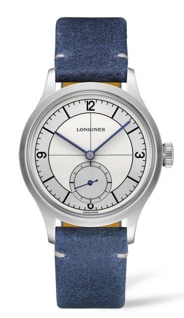 Longines: Heritage Classic mit blauem Lederband