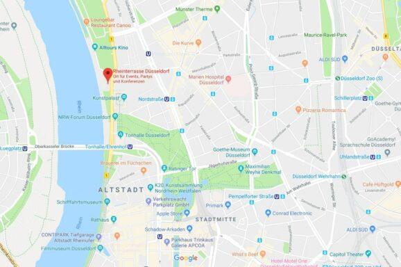 Maps Rheinterrasse Düsseldorf