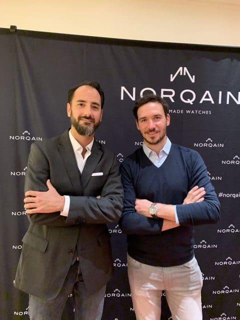 Felix Neureuther (rechts) mit Chronos-Redakteur Alexander Krupp, beide aus Garmisch-Partenkirchen