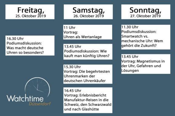 Rahmenporgramm der Watchtime Düsseldorf
