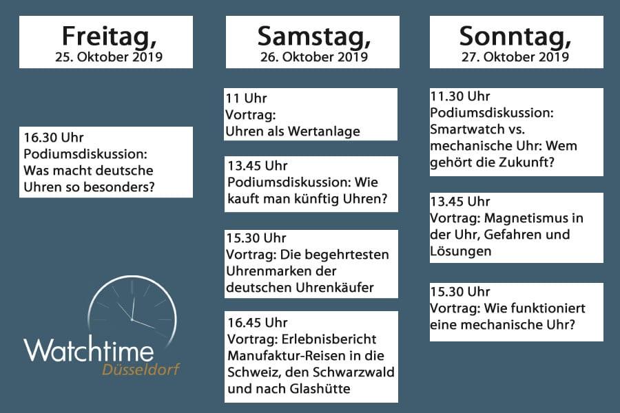 Rahmenporgramm Watchtime Düsseldorf 2019