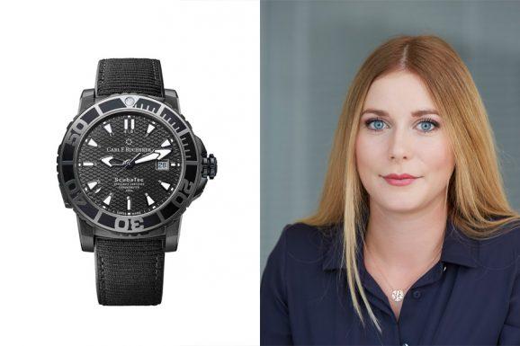 Nadja Ehrlich, verantwortliche Online-Redakteurin Watchtime.net, empfiehlt die Carl F. Bucherer Patravi Scubatec Black