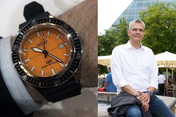 Rüdiger Bucher, Chefredakteur Chronos, empfiehlt die Certina DS Super PH 500 M