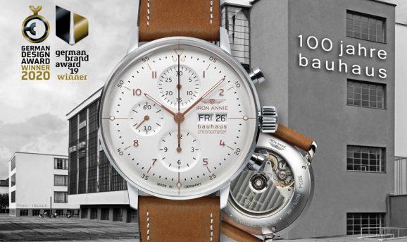 Design-Award Gewinner 2020: Iron Annie: Bauhaus Chronograph Chronometer