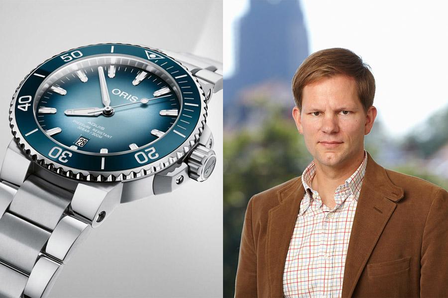 Jens Koch, Redakteur Chronos, wählt die Oris Lake Baikal Limited Edition