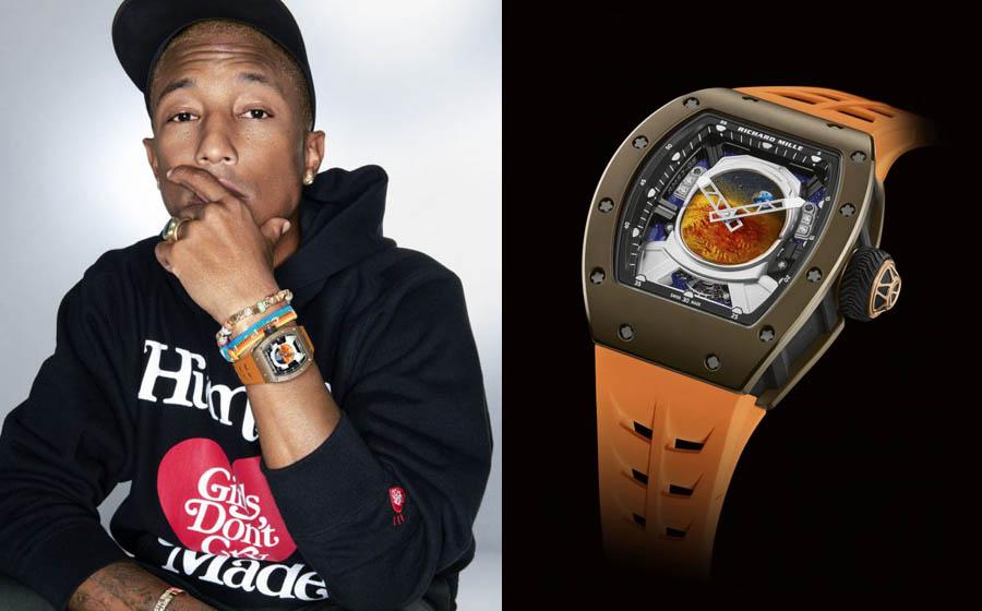 Promis und Uhren: Richard Mille und Pharrell Williams