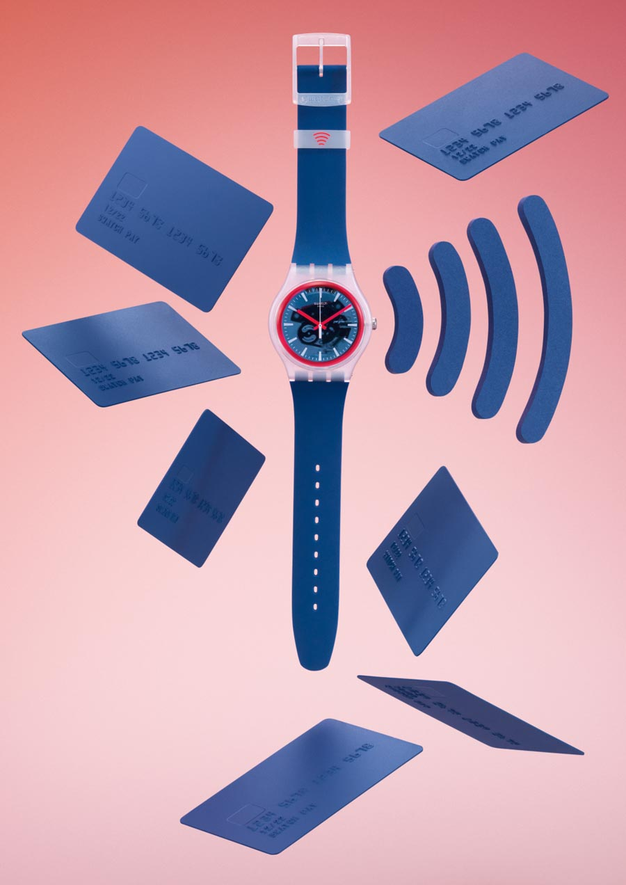 Mit einer Swatch Pay-Uhr kann man kontaktlos bezahlen