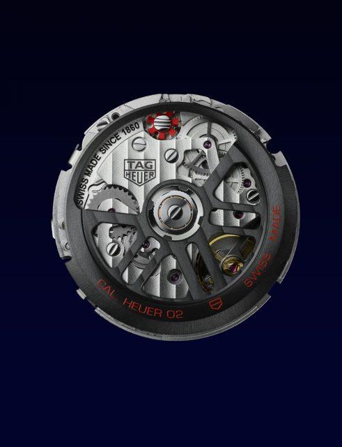 Die neue Monaco wird vom modernen und funktionalen Manufakturkaliber Heuer 02 angetrieben