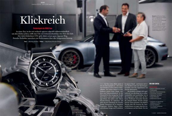 UHREN-MAGAZIN Heft 1/2020: Test Porsche Design Globetimer UTC