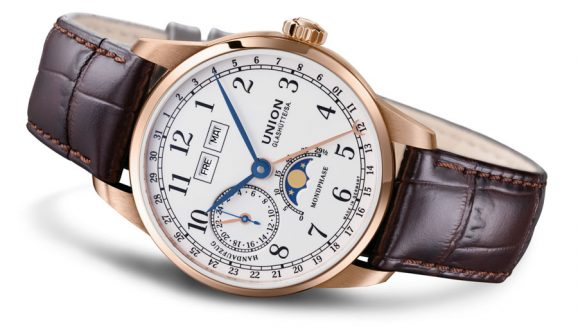 Union Glashütte: 1893 Johannes Dürrstein Edition Mondphase in Roségold