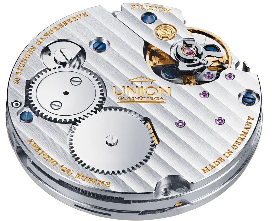 In der neuen Glashütter Uhr tickt das Handaufzugskaliber UNG-58.S1