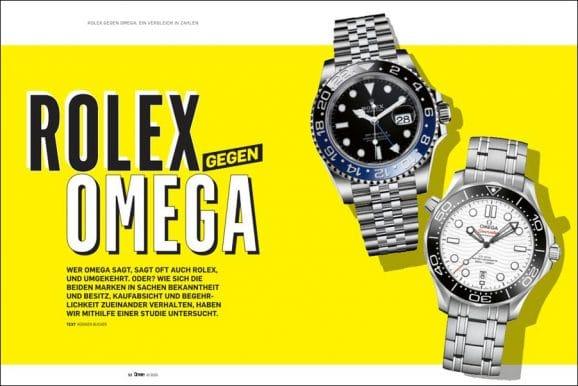 Rolex und Omega: ein Vergleich in Zahlen