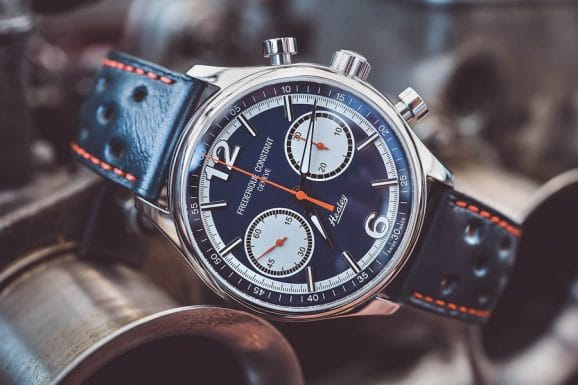 Frederique Constant Vintage Rally Healey Chronograph Limited Edition, Edelstahl, 42 Millimeter, Sellita SW 500, Automatik, 99 Exemplare, 2.595 Euro. Foto: Marcus Krüger