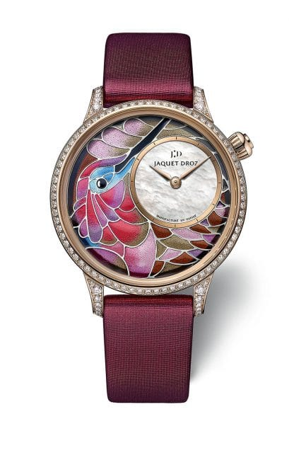 Jaquet Droz: Smalta Clara Hummingbird