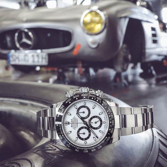 Rolex Cosmograph Daytona, Edelstahl, 40 Millimeter, Manufakturkaliber 4130, Automatik, Chronometer, 11.300 Euro. Foto: Marcus Krüger