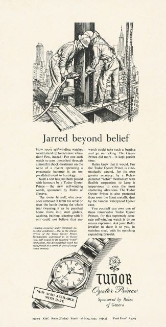 Tudor: Werbung Oyster Prince 1950
